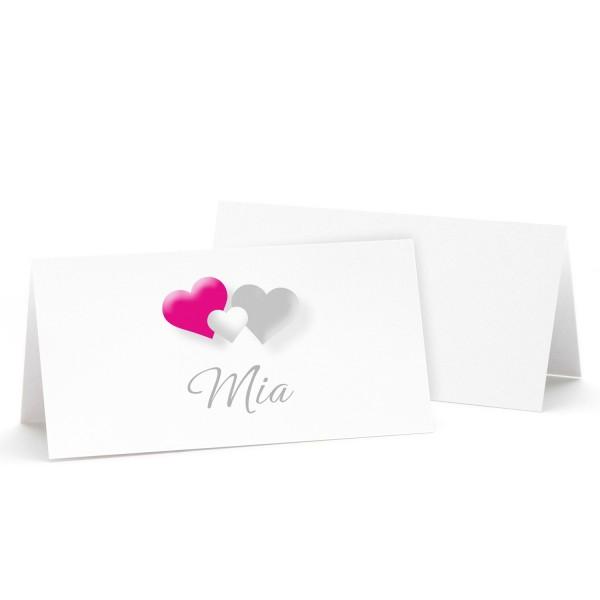 "Tischkarte ""Mia"" - in 12 Farben"