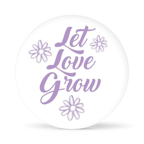 """Aufkleber """"Let Love grow flower"""" weiß (24 St.) in 13 Farben"""