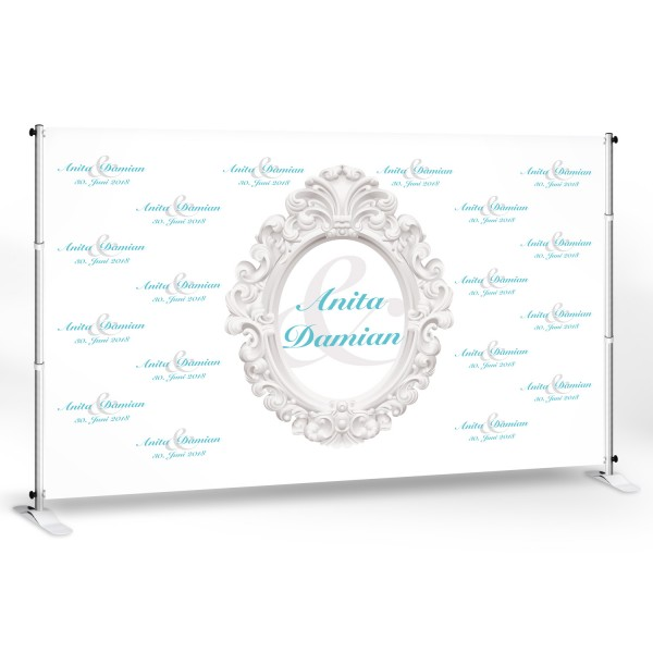 "Wedding-Banner ""Anita 300"" -personalisiert - in 8 Farben"