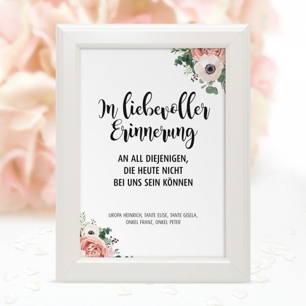 """Poster Erinnerung """"In liebevoller ..."""" - personalisiert"""