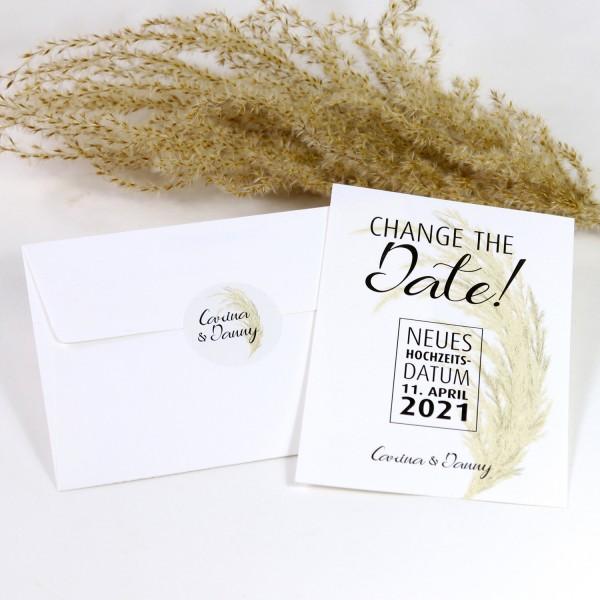 "Change the Date Karten-Set ""Carina"" (12 St.) - personalisiert"