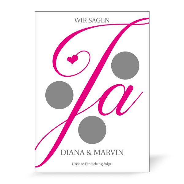 "Magnetkarte mit Rubbelfeld ""Diana"" (5 St.) - personalisiert"