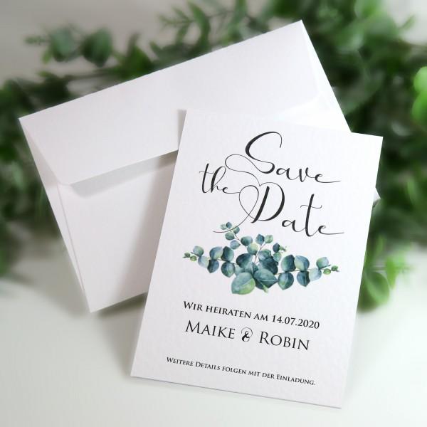 "Save the Date Karte ""Maike"" (12 St.) - personalisiert mit Umschlag"