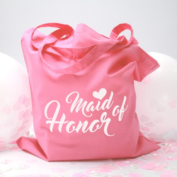 "Stofftasche ""Light Pink"" Maid of Honor (38x42cm)"