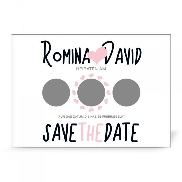 "Magnetkarte mit Rubbelfeld ""Romina"" (5 St.) - personalisiert"