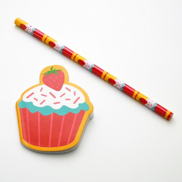 """Schreibset Cupcake """"Strawberry"""""""
