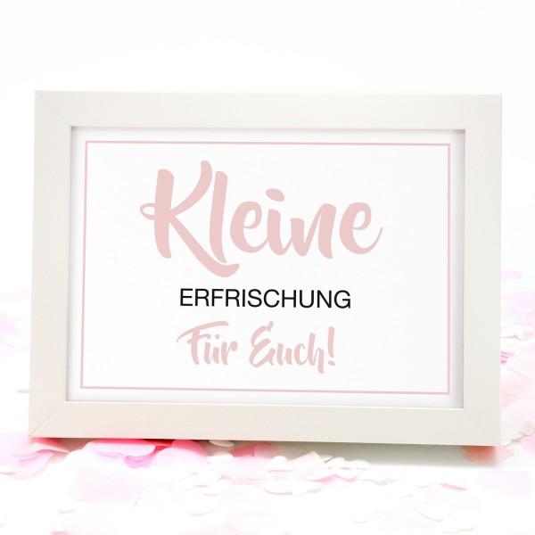 """Fächer-Schild """"Kleine ..."""" 18x13cm - in 8 Farben"""