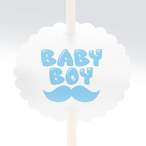"""Anstecker-Set """"Baby Boy"""" (10 St.)"""