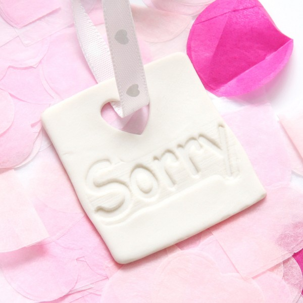"Porzellananhänger ""Sorry"""