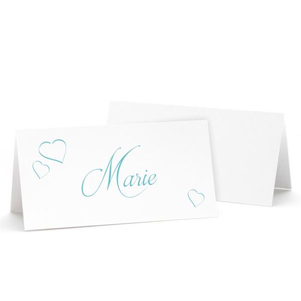 "Tischkarte ""Marie"" in 12 Farben"