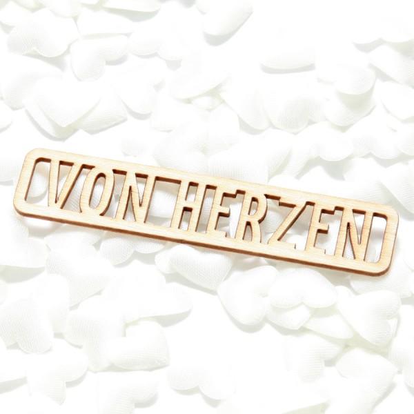 """Holzanhänger """"VON HERZEN"""" (5 St.)"""