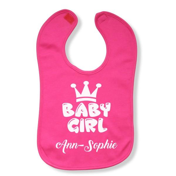 """Lätzchen Baby-Girl """"Pink"""" - personalisiert"""