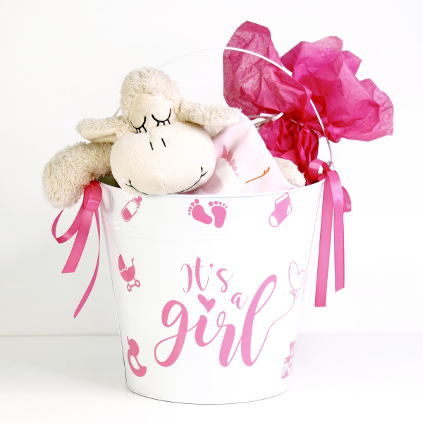 """Baby-Aufkleber """"It's a girl"""" in 3 Farben"""