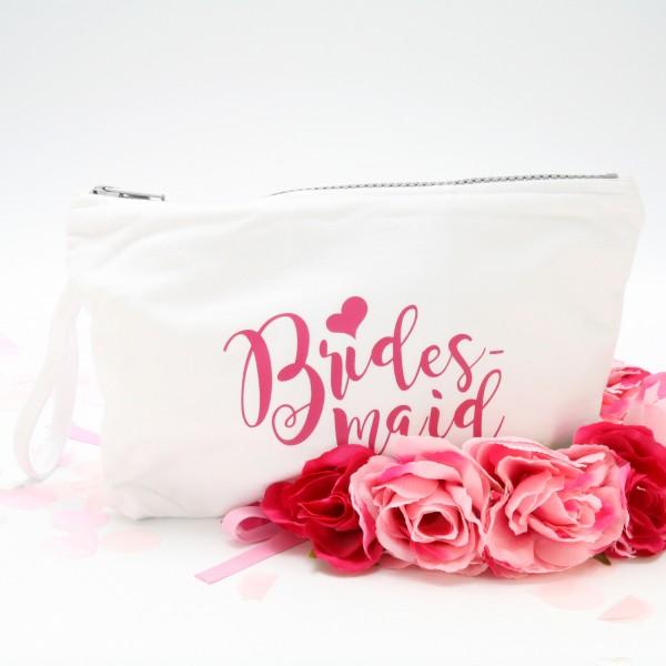 """Kosmetikbeutel """"Weiß"""" Bridesmaid in 3 Farben"""
