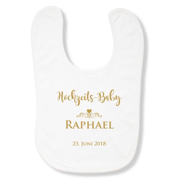 Lätzchen Hochzeits-Baby (4 Farben) - personalisiert