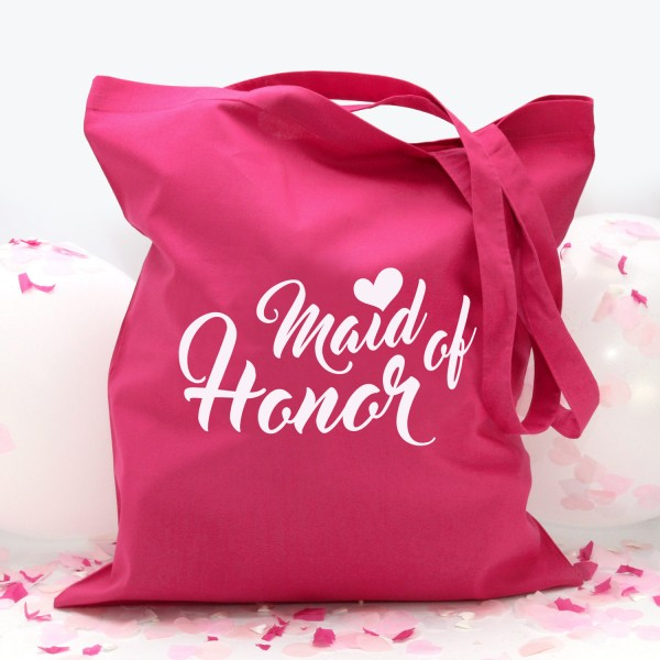 "Stofftasche ""Pink"" Maid of Honor (38x42cm) in 2 Farben"