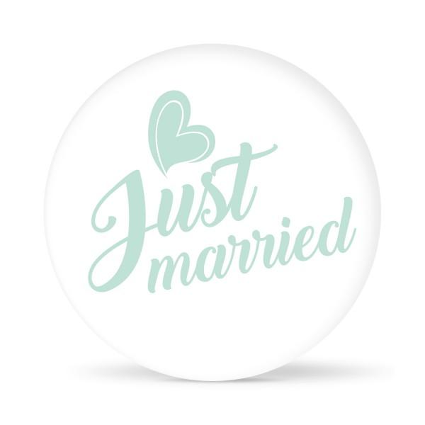 """Aufkleber """"Just married"""" weiß (24 St.)"""