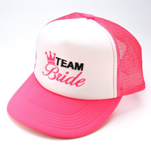"""Basecap Team Bride """"Neonpink"""""""