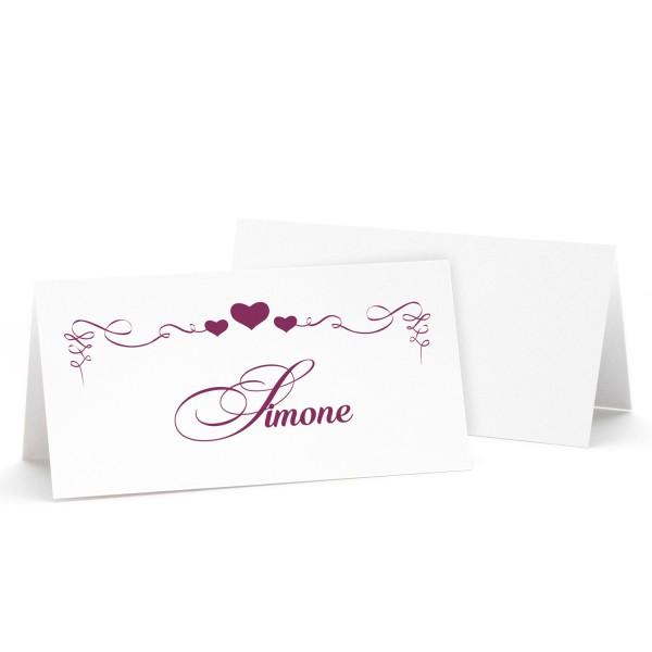 "Tischkarte ""Simone"" - in 12 Farben"