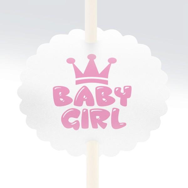 "Anstecker-Set ""Baby Girl"" (10 St.)"