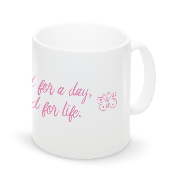 "Tasse ""Bridesmaid for a day"""