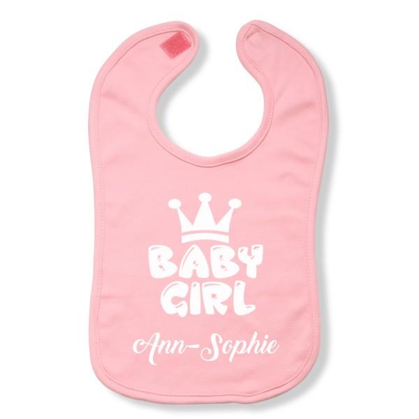 "Lätzchen Baby-Girl ""Rosa"" - personalisiert"