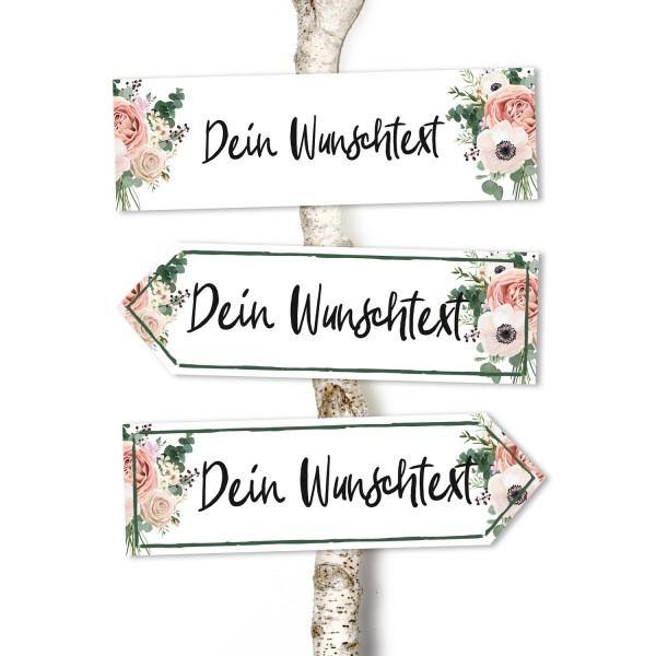 """Wegweiser """"vintage"""" mit Wunschtext"""