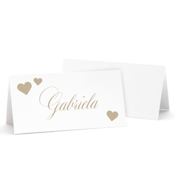 "Tischkarte ""Gabriela"" - in 12 Farben"