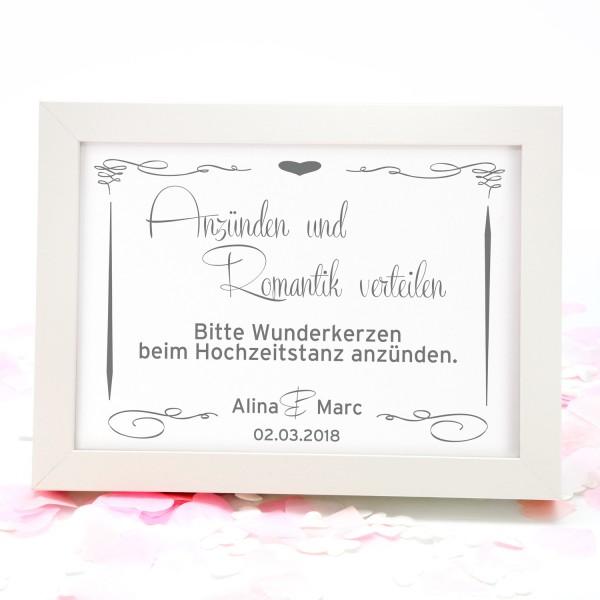"""Wunderkerzen-Schild """"Alina"""""""