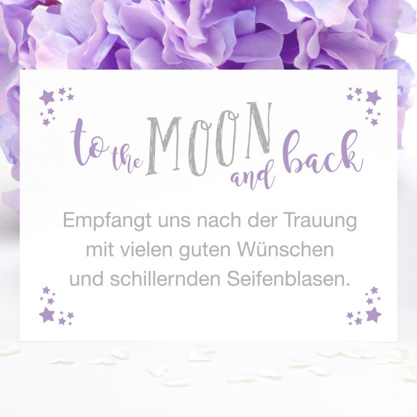 "Bubble-Schild ""To the MOON ..."" - in 12 Farben"