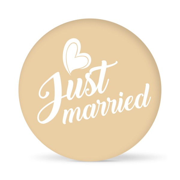 """Aufkleber """"Just married"""" farbig (24 St.)"""