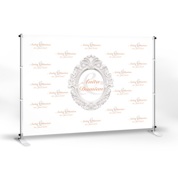 "Wedding-Banner ""Anita 250"" -personalisiert - in 8 Farben"