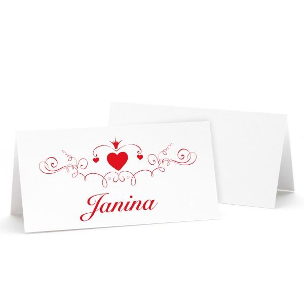 "Tischkarte ""Janina"" - in 12 Farben"