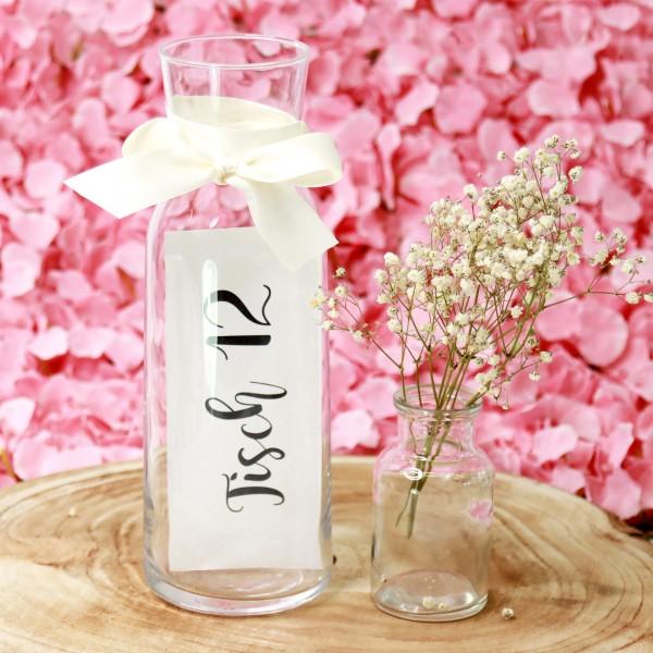 """Tischnummer """"Basic"""" Glasdeko (Nr. 1-12)"""