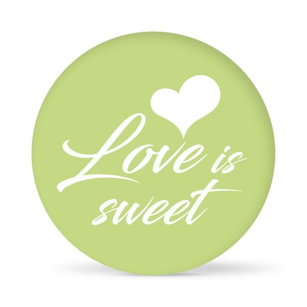 "Aufkleber ""Love is Sweet"" farbig (24 St.)"