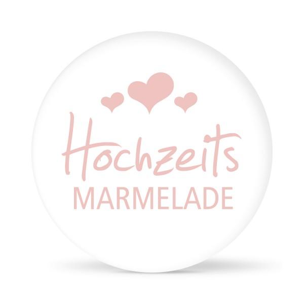 """Aufkleber """"Hochzeitsmarmelade"""" weiß (24 St.)"""