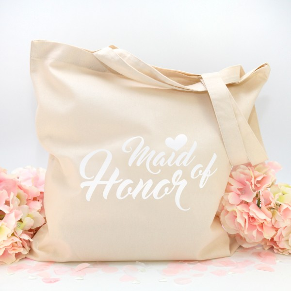 """Stofftasche """"Natur"""" Maid of Honor (38x42cm) in 3 Farben"""