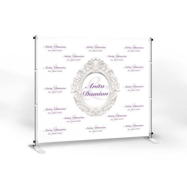 """Wedding-Banner """"Anita 200"""" -personalisiert - in 8 Farben"""