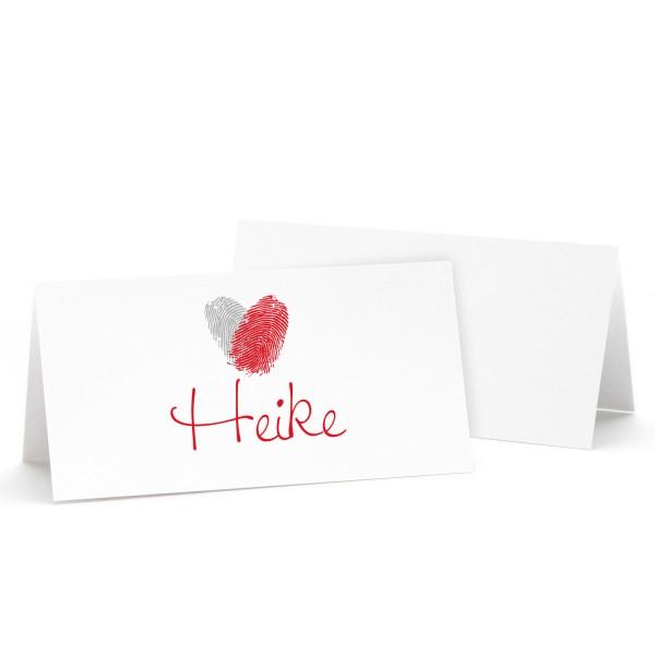 """Tischkarte """"Heike"""" in 10 Farben"""