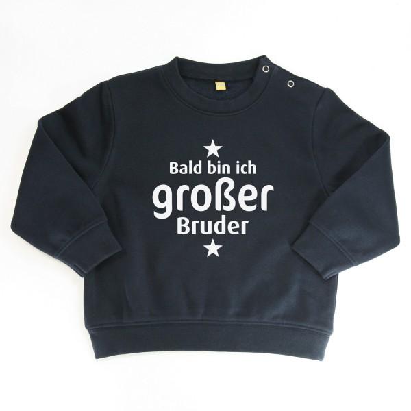 """Sweater """"Bald bin ich großer Bruder"""" Dunkelblau"""