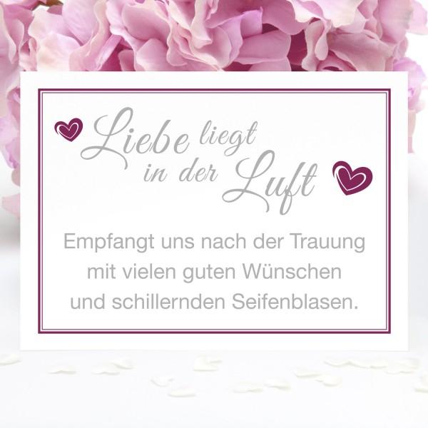 """Bubble-Schild """"Liebe liegt in ..."""" - in 12 Farben"""