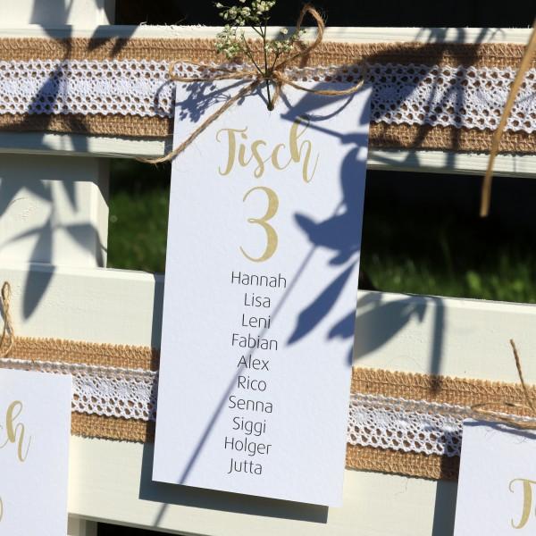 """Tischnummer Anhänger """"Louisa"""" - personalisiert"""