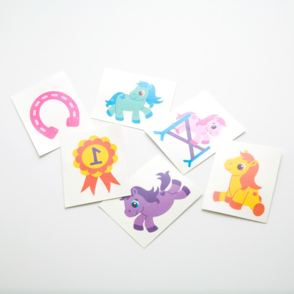 "Tattoos ""Pretty Pony"" 6er Set"