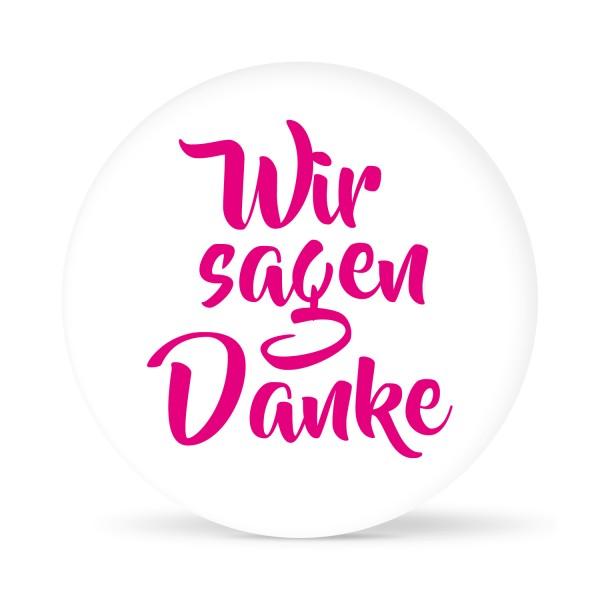 """Aufkleber """"Wir sagen Danke"""" weiß (24 St.)"""