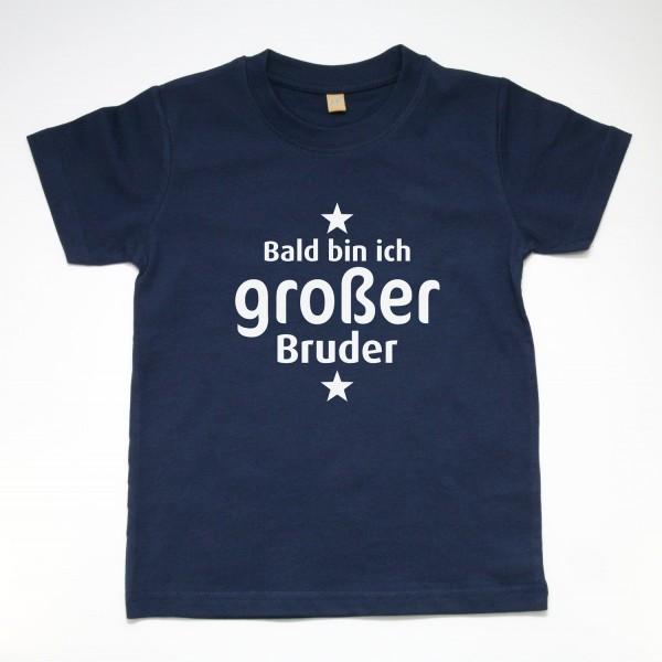 """T-Shirt """"Bald bin ich großer Bruder"""" in 3 Farben"""