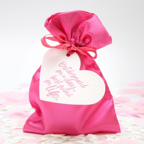 "Satinbeutel ""Pink"" 11 x 15cm"