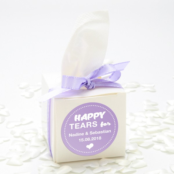 "Happy-Tears-Box ""Flieder"" 3-teilig"