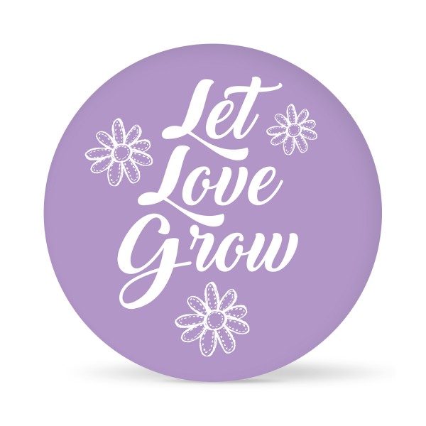 "Aufkleber ""Let Love grow flower"" farbig (24 St.) in 13 Farben"
