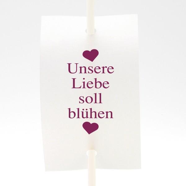 """Anstecker-Set """"Unsere Liebe soll blühen"""" (9 St.) in 13 Farben"""