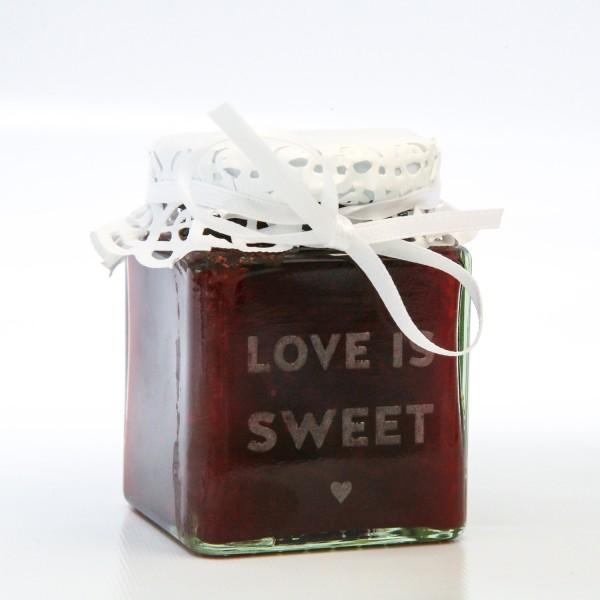 "Glas ""Love is Sweet"" 100ml"